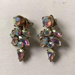 J.crew Rainbow Hologram Drop Earrings